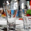 Royalty-Free Stock Photo: Empty Glasses on Banquet Table