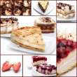 collage di dessert — Foto Stock
