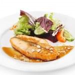Постер, плакат: Hot Fish Dishes Salmon Steak