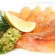 Stock Photo: Appetizer - Light-solted Atlantic Salmon
