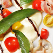 Salad - Tomato with Mozzarella — Stock Photo