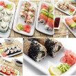 Collection of Photos of Japanese Food — Stock Photo