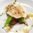 Hot Fish Dishes - Halibut fillet — Stock Photo #12504175