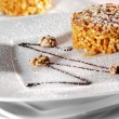 Chak-Chak is a Tatar Dainty made from Pastry Grains and Nuts — Stock Photo