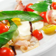 Salad - Tomato with Mozzarella - Stock Photo