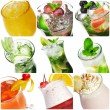 Cocktail Collage — Stock Photo