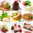 Dessert collage — Stockfoto #12504970