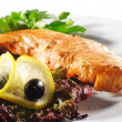Постер, плакат: Hot Fish Dishes Salmon Steak