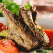 Hot Meat Dishes - Bone-in Lamb - Stock Photo