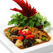 Chinese - Meat with Black Fungus - Stock Photo