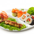 Japanese Cuisine - Yakitori - Stock Photo