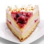 Dessert - Strawberries Cake — Stock Photo