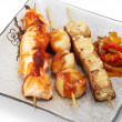 Stock Photo: Japanese Cuisine - Skewered Seafood