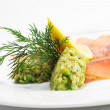 Appetizer - Light-solted Atlantic Salmon — Stock Photo