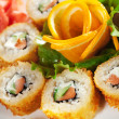 Salmon Fried Roll - Stock Photo