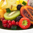 Exotic Fruit Dish — Stock Photo
