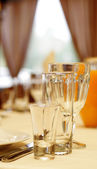 Empty Glass on Banquet Table at Celebrate. — Stock Photo