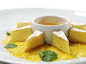 Soft Cheese with Honey Sauce — Stock Photo