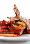 Roasted Lamb Chops — Stock Photo