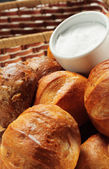 Freshly Baked Bread and Salt — Stock Photo