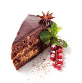 Chocolate Iced Pie — Stock Photo