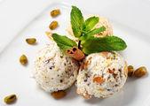 Pistachio Ice Cream — Stock Photo