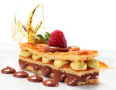 Chocolate and Pistachio Sponge Cake — Stock Photo