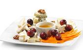 Dessert - Cheese Plate — Stock Photo