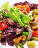 Salad with Anchovy — Stockfoto