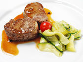 Hot Meat Dishes - Veal Medallions — Stock Photo