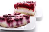 Dessert - Two Berries Cakes — Stock Photo