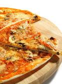 Piece of Mushroom Pizza — Stock Photo