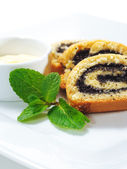 Dessert - Poppy Roll — Stock Photo
