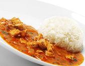 Rýže s kuřetem — Stock fotografie