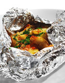 Baked Fish in Foil — Stock Photo