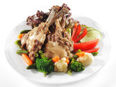 Hot Meat Dishes - Prime Rib Roast Pork — Stock Photo