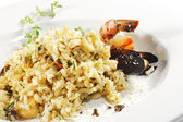 Shrimp and Scallop Risotto — Stock Photo