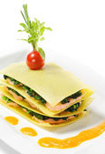 Lososové lasagne — Stock fotografie