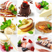 Dessert Collage — Stock Photo