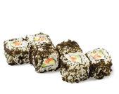 Japanese Cuisine - Salmon Sushi Roll — Stock Photo