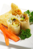 Japanese Cuisine - Fish Appetizers — Stock Photo