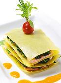 Zalm lasagne — Stockfoto