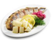 Cold Fish Dishes - Kipper with Potato — Stock Photo