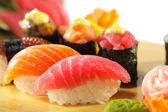Japanese Cuisine - Sushi Set — Stock Photo