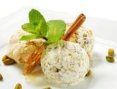 Dessert - Home-made Ice-cream — Stock Photo