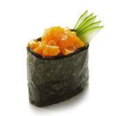 Spicy Salmon Gunkan — Stock Photo