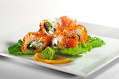 Eel and Tobiko Roll — Stock Photo