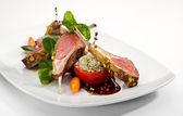 Lammkoteletts und gemüse — Stockfoto
