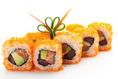 Roll with Masago — Stock Photo