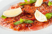 Tuna Carpaccio — Stock Photo
